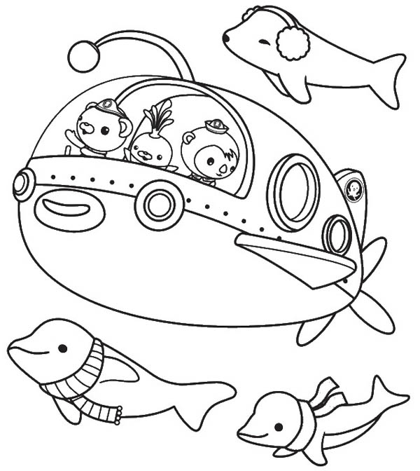 octonauts coloring page free kids pages - Octonauts Coloring Pages Print