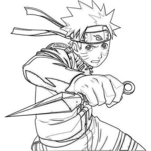 great uzumaki naruto coloring page - Naruto Coloring Pages