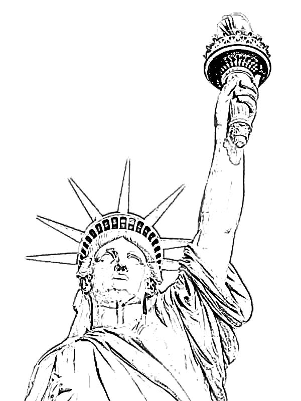 Grover Cleveland in Statue of Liberty Coloring Page Download