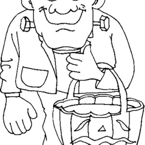 Halloween Frankenstein Coloring Page