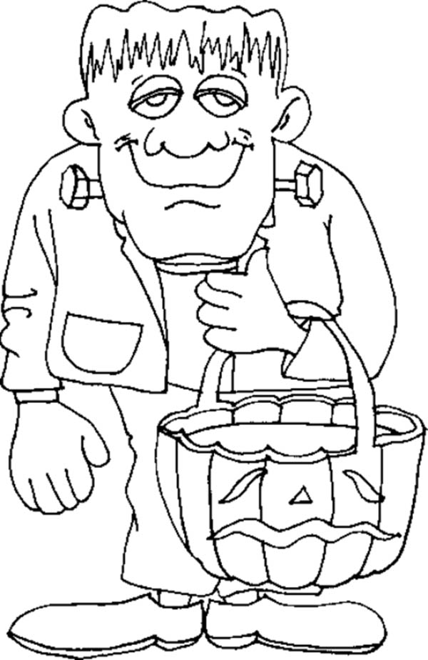 Frankenstein Coloring Pages Awesome Halloween Frankenstein Coloring Page  Download & Print Online Decorating Design
