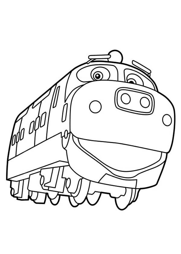Happy Brewster of Chuggington Coloring Page Download Print