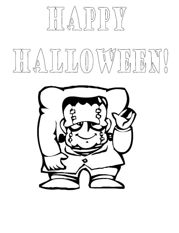 Halloween Frankenstein Coloring Pages,