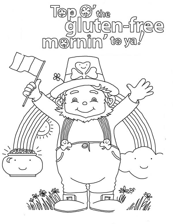 happy st patricks day to all irish coloring page - Irish Coloring Pages