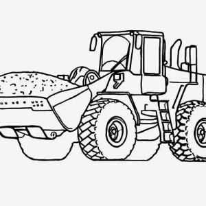 Heavy Tractor Coloring Page