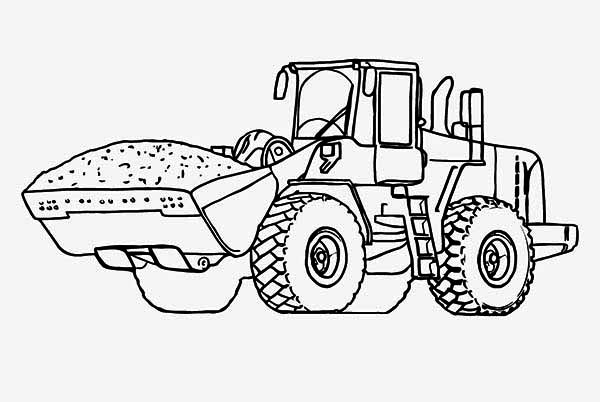 Heavy Tractor Coloring Page Download Print Online Coloring Pages