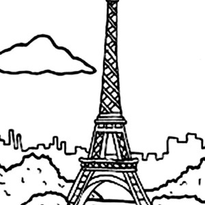 eiffel tower holiday in eiffel tower coloring page holiday in eiffel tower coloring page