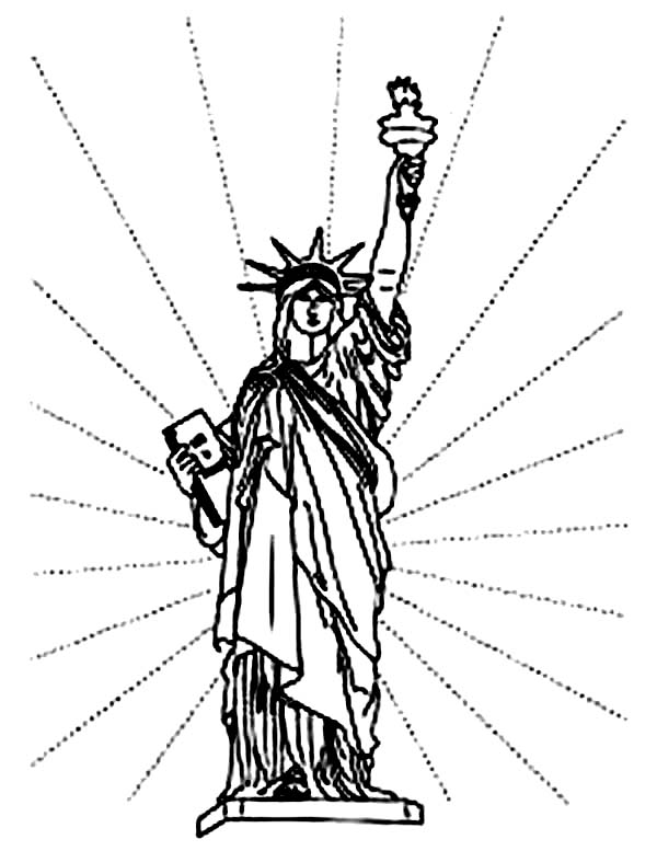 Independence Day in Statue of Liberty Coloring Page - Download ...