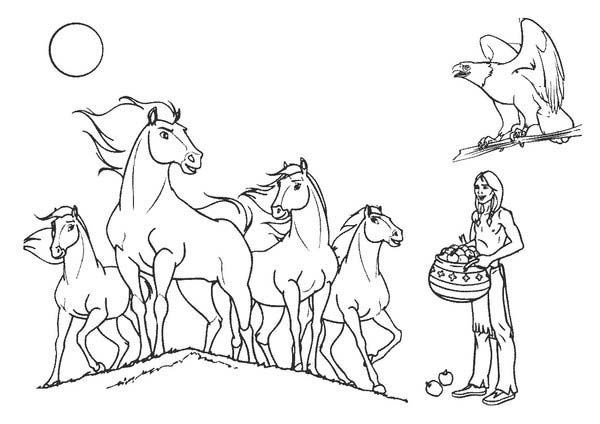 Indian Horses Coloring Page Download Print Online Coloring