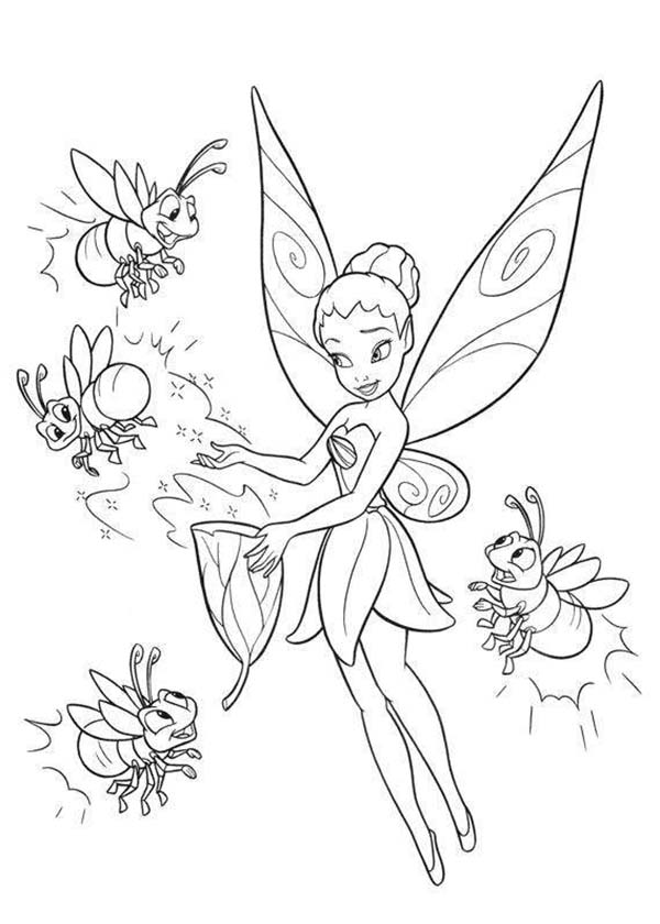 Disney Fairies Iridessa And Coloring Page