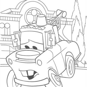 Ivan is Confuse in Disney Cars 2 Coloring Page