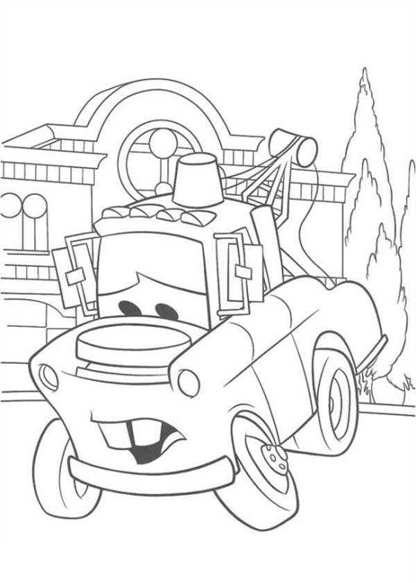 Cars Ivan Is Confuse In Disney 2 Coloring Page