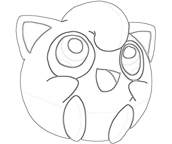 Jigglypuff pokemon character coloring page download for Jigglypuff coloring page