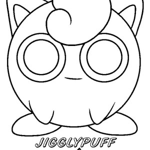 Jigglypuff awesome pokemon picture coloring page sketch for Jigglypuff coloring page