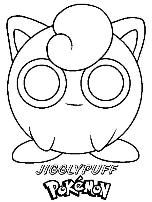 Jigglypuff Pokemon Coloring Page - Download & Print Online Coloring ...
