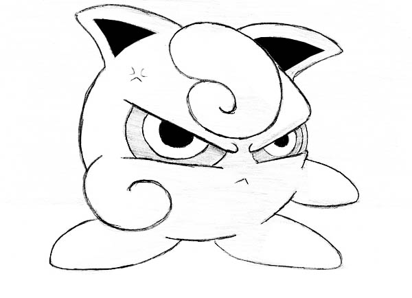 Jigglypuff is Angry Coloring Page