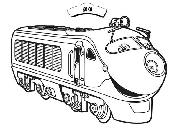Koko from Chuggington Coloring Page Download Print Online