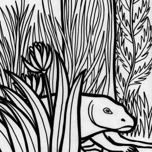 Komodo Dragon Rainforest Reptile Coloring Page
