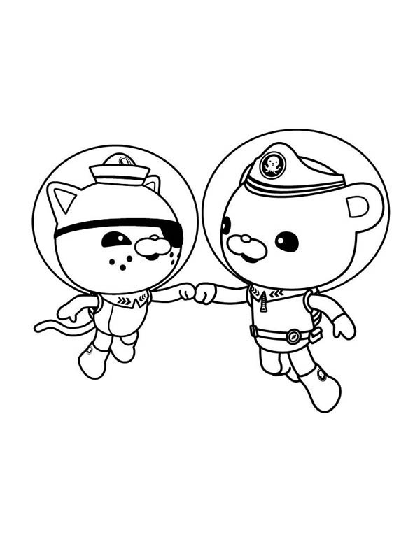 Charmant Kwazii And Captain Barnacles Of The Octonauts Coloring Page