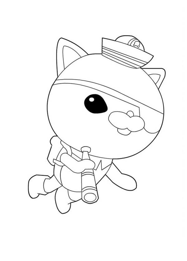 Kwazii from the octonauts exploring the sea coloring page for Octonauts color pages