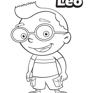 leo from little einsteins coloring page