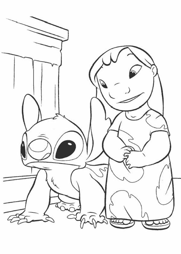 Lilo Stitch Coloring Page