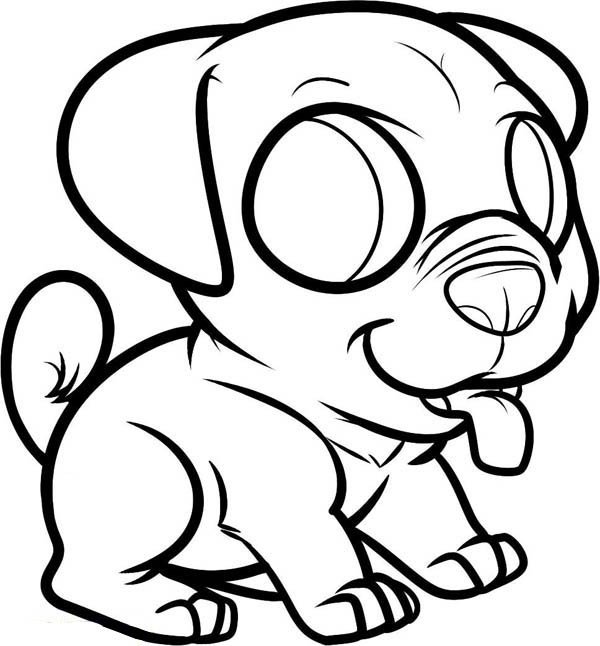 Dog Little Puppy To Pet Coloring Page