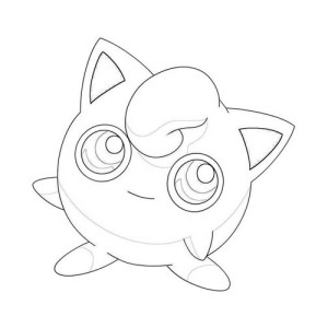 Little Pokemon Jigglypuff Coloring Page
