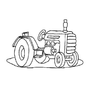 Little Tractor Coloring Page