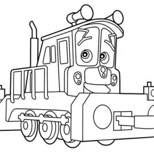Lovely Dunbar of Chuggington Coloring Page
