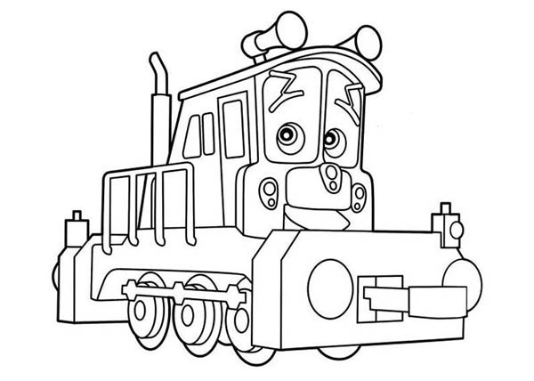 Lovely Dunbar of Chuggington Coloring Page Download Print