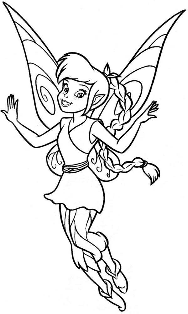 Disney Fairies Lovely Fawn From Coloring Page