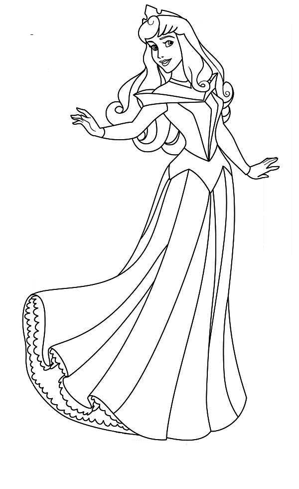 Lovely Princess Aurora Coloring Page  Download  Print Online
