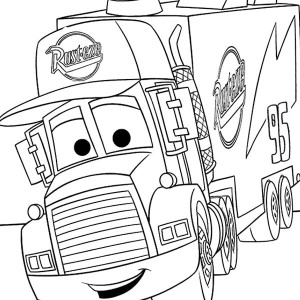 mack from disney cars 2 coloring page - Cars 2 Coloring Pages To Print