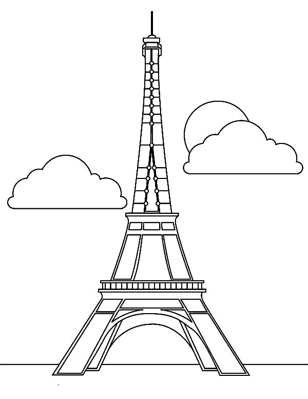 Magnificent Eiffel Tower Coloring Page Download Print Online