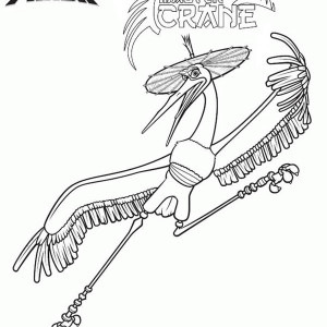 Master Crane of Kung Fu Panda Coloring Page