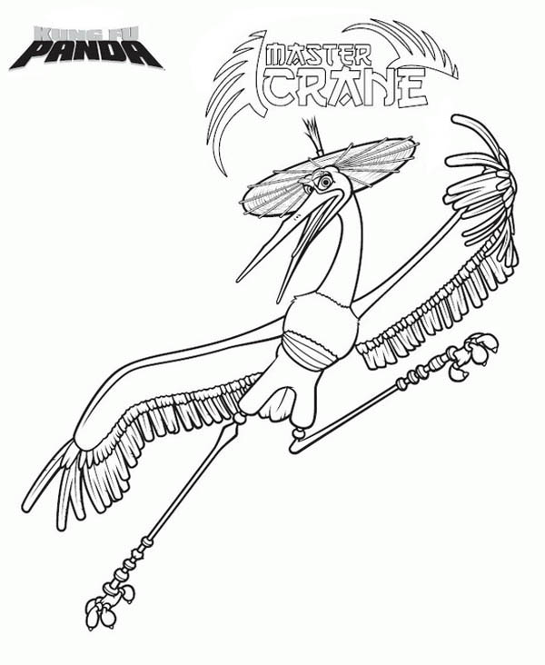 Kung Fu Panda Master Crane Of Coloring Page
