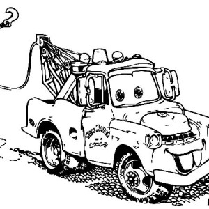 Mater Car in Disney Cars Coloring Page