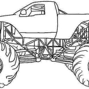 Monster Mutt Rottweiler Monster Truck Coloring Page