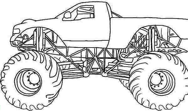 monster mutt rottweiler monster truck coloring page - Monster Truck Coloring Page