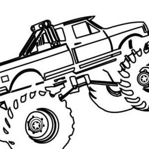 Monster Truck El Toro Loco Coloring Page