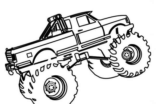 monster truck el toro loco coloring page - Monster Truck Coloring Page