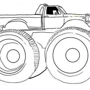 Monster Truck Gunslinger Coloring Page
