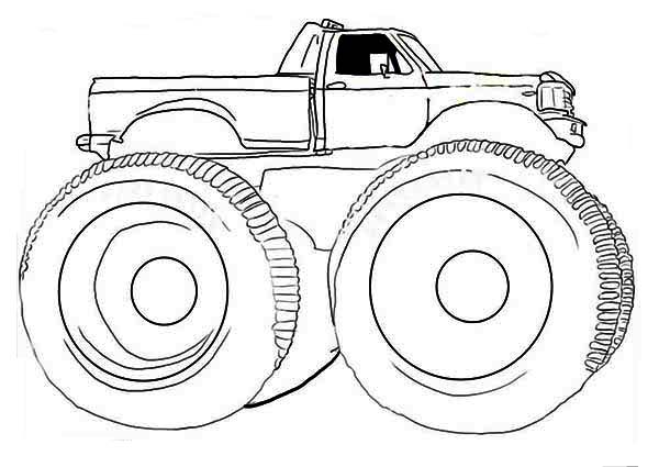 monster truck gunslinger coloring page - Monster Truck Coloring Page