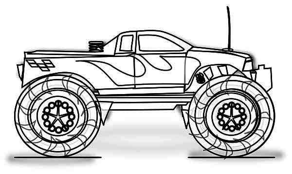 Monster Truck Inferno Coloring Page