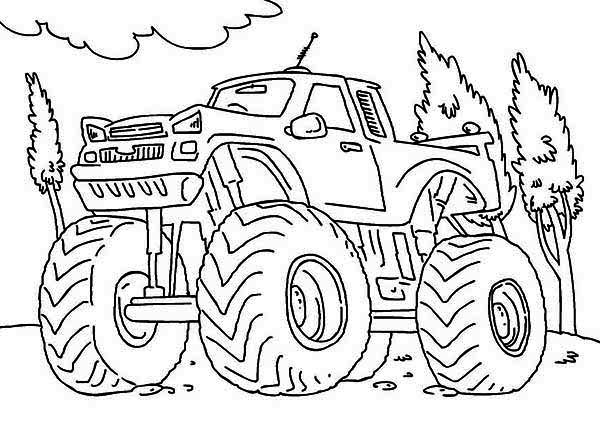 monster truck monster truck iron outlaw coloring page monster truck iron outlaw coloring pagefull - Monster Truck Coloring Page