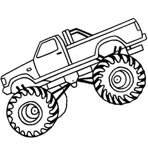 Monster Truck Jurassic Attack Coloring Page