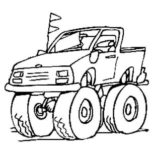 Monster Truck Sheer Insanity Coloring Page