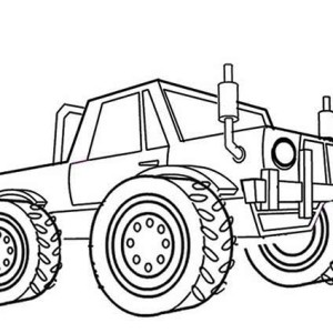 Monster Truck Storm Damage Coloring Page