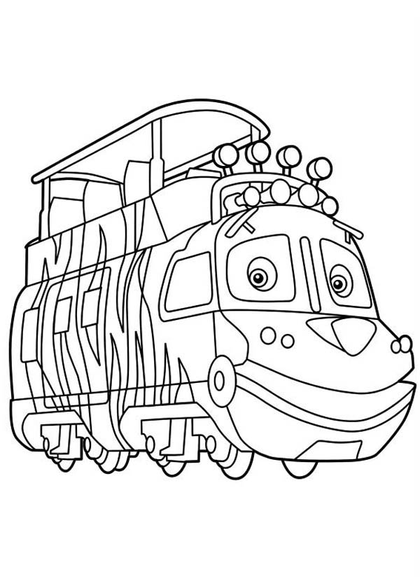 Mtambo from Chuggington Coloring Page Download Print Online